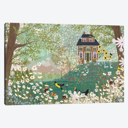 Garden Dream Canvas Print #JLF28} by Joy Laforme Canvas Art