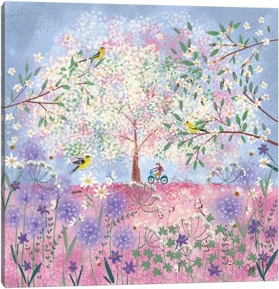 Periwinkle Spring Flora Canvas Art Print
