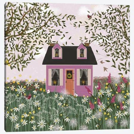 Purple House On A Hill Canvas Print #JLF35} by Joy Laforme Canvas Wall Art