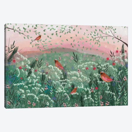 Rosy Pink Landscape Canvas Print #JLF36} by Joy Laforme Canvas Artwork