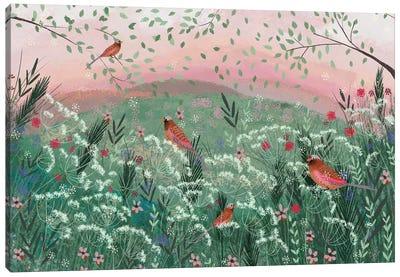 Rosy Pink Landscape Canvas Art Print