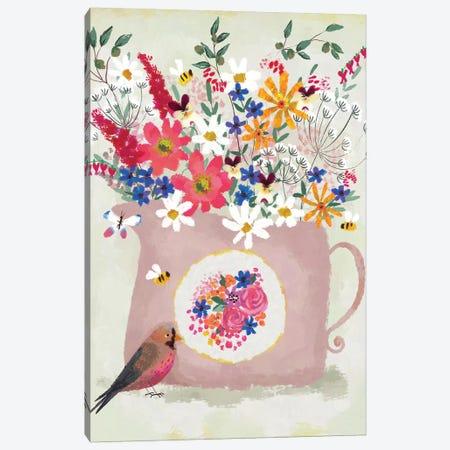 Rosy Pink Still Life Canvas Print #JLF37} by Joy Laforme Canvas Art