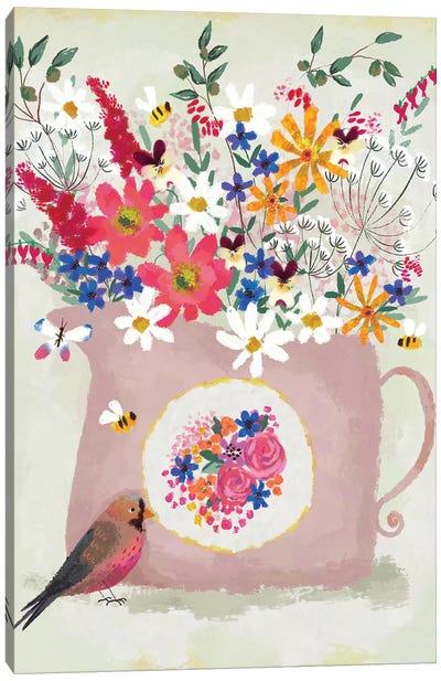 Rosy Pink Still Life Canvas Art Print