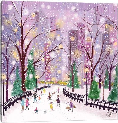 Snowy Night Canvas Art Print