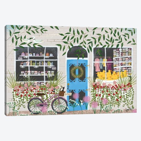SoapShop Storefront Canvas Print #JLF39} by Joy Laforme Canvas Print