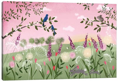 Spring Sunset Canvas Art Print