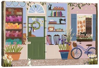 Stitcherie Shop Storefront Canvas Art Print