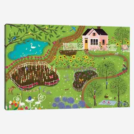Summer Gardens Canvas Print #JLF44} by Joy Laforme Canvas Print
