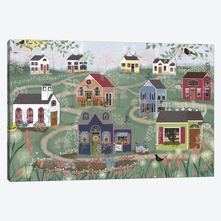 Sunday Shops Canvas Print #JLF45} by Joy Laforme Art Print