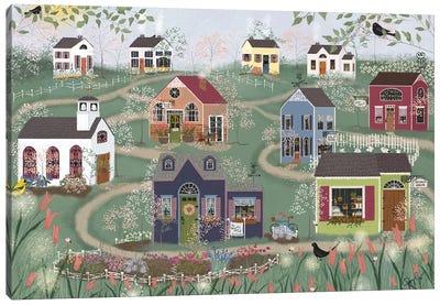 Sunday Shops Canvas Art Print
