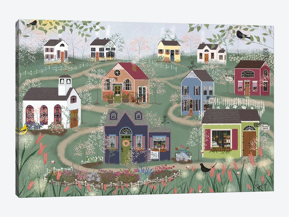 Sunday Shops by Joy Laforme 1-piece Canvas Print