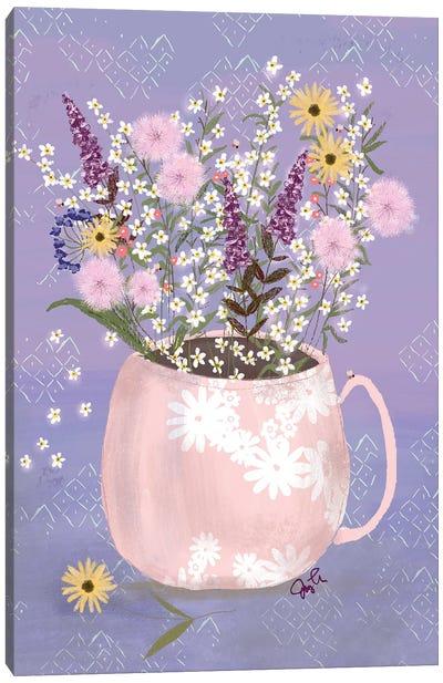 Wildflower Vase I Canvas Art Print