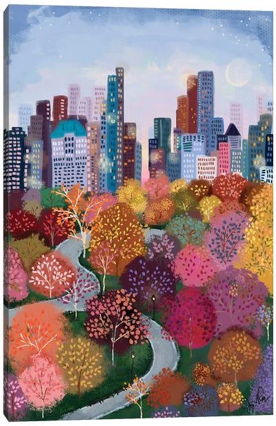 Autumn In The Park Canvas Art Print