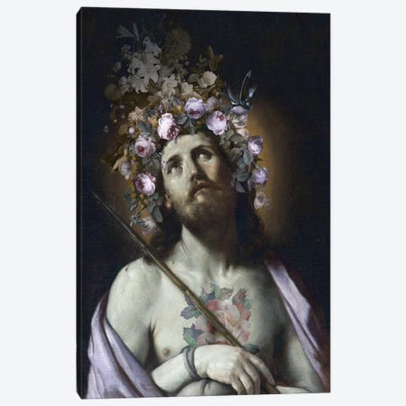 Christ With Flowers Canvas Print #JLG122} by José Luis Guerrero Canvas Art