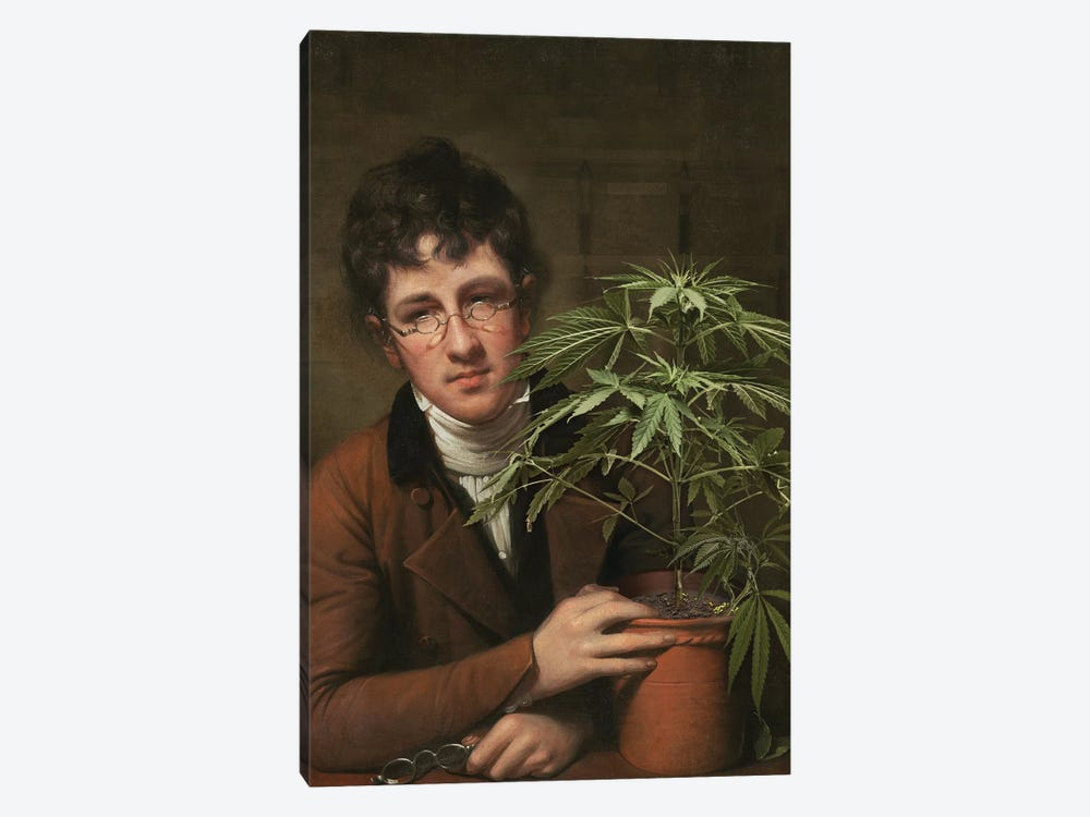 Rubens Peale With A Cannabis by José Luis Guerrero 1-piece Canvas Artwork