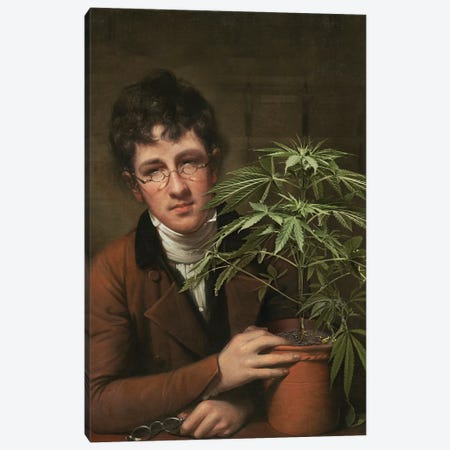 Rubens Peale With A Cannabis Canvas Print #JLG129} by José Luis Guerrero Canvas Wall Art