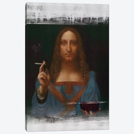 Christ Loves You Canvas Print #JLG12} by José Luis Guerrero Canvas Art