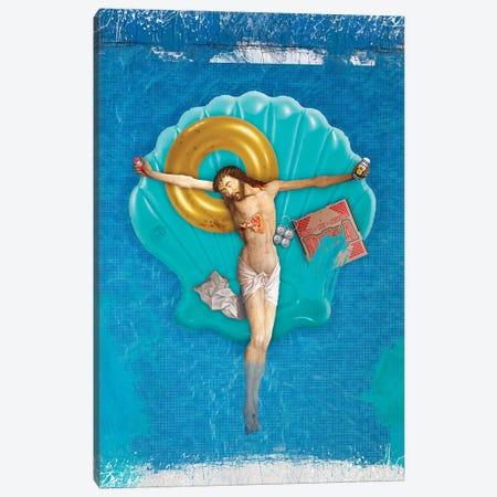 Pool Party Canvas Print #JLG145} by José Luis Guerrero Art Print