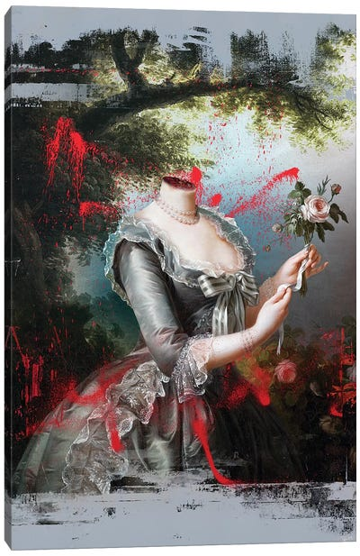 Portrait Of Marie Antoinette 1794 Canvas Art Print
