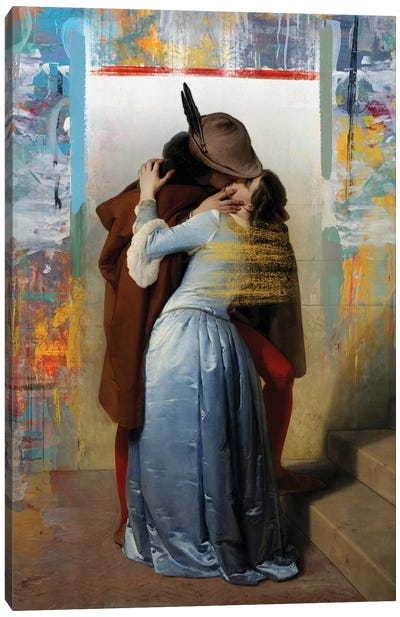 El Beso Canvas Art Print