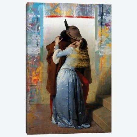 El Beso 3-Piece Canvas #JLG20} by José Luis Guerrero Art Print