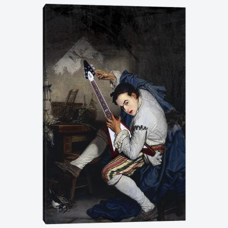 El Guitarrista Canvas Print #JLG21} by José Luis Guerrero Canvas Print