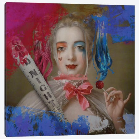 Harley Quinn Canvas Print #JLG29} by José Luis Guerrero Canvas Art Print