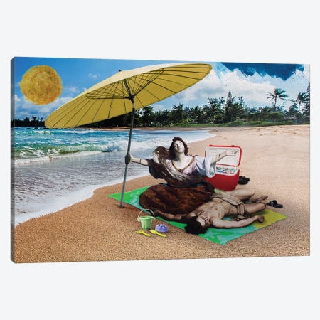 In The Beach Canvas Print #JLG32} by José Luis Guerrero Canvas Wall Art