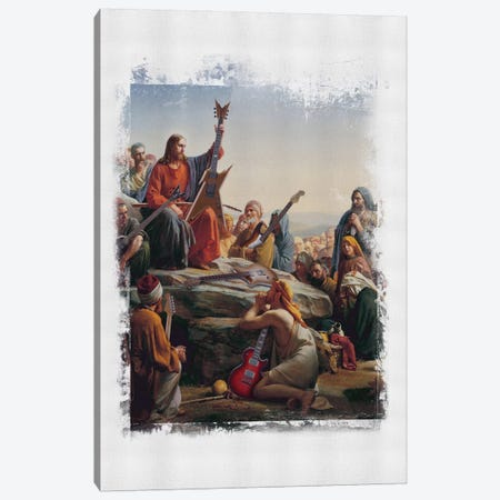 Jesus Rocks Canvas Print #JLG33} by José Luis Guerrero Canvas Artwork