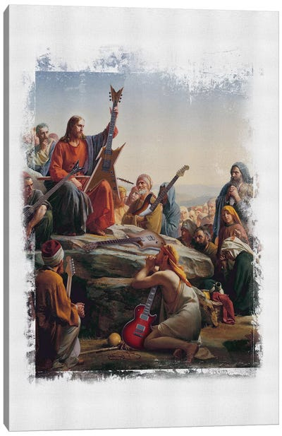 Jesus Rocks Canvas Art Print
