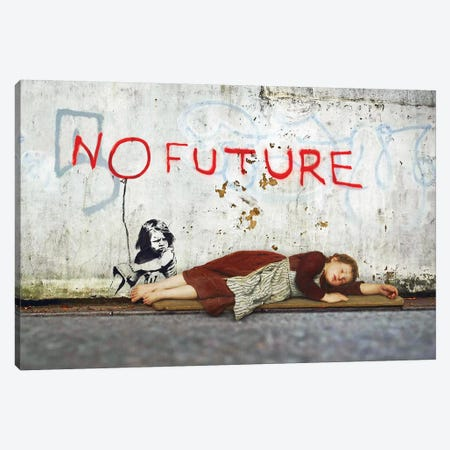 No Future Canvas Print #JLG45} by José Luis Guerrero Canvas Wall Art