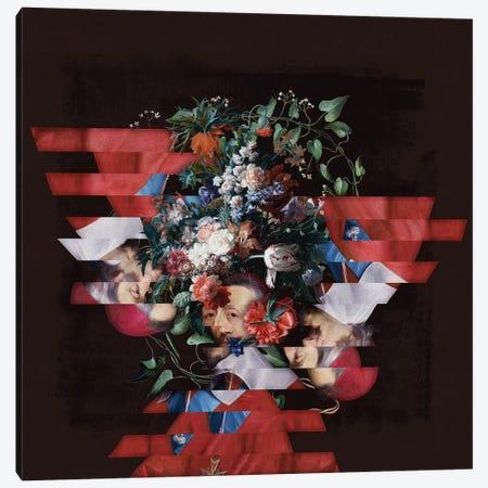 Portrait With Flowers Canvas Print #JLG50} by José Luis Guerrero Canvas Art