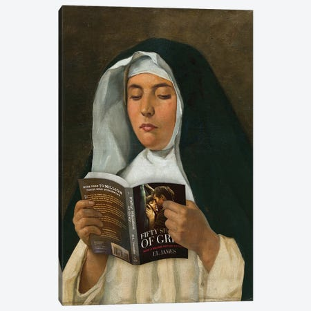 Religious Reading Canvas Print #JLG53} by José Luis Guerrero Canvas Wall Art