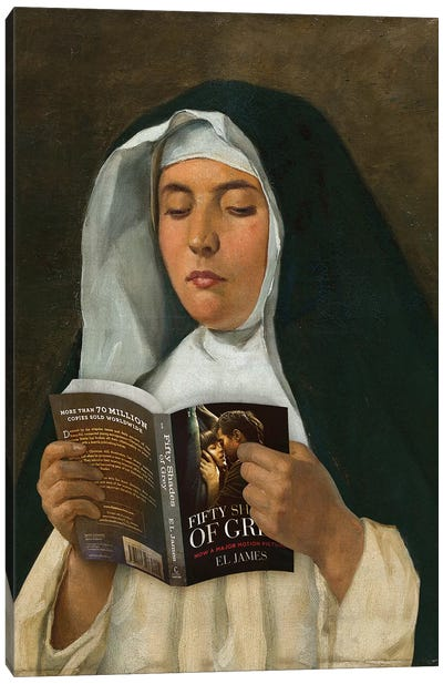 Religious Reading Canvas Art Print