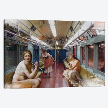 Subway Canvas Print #JLG60} by José Luis Guerrero Canvas Print