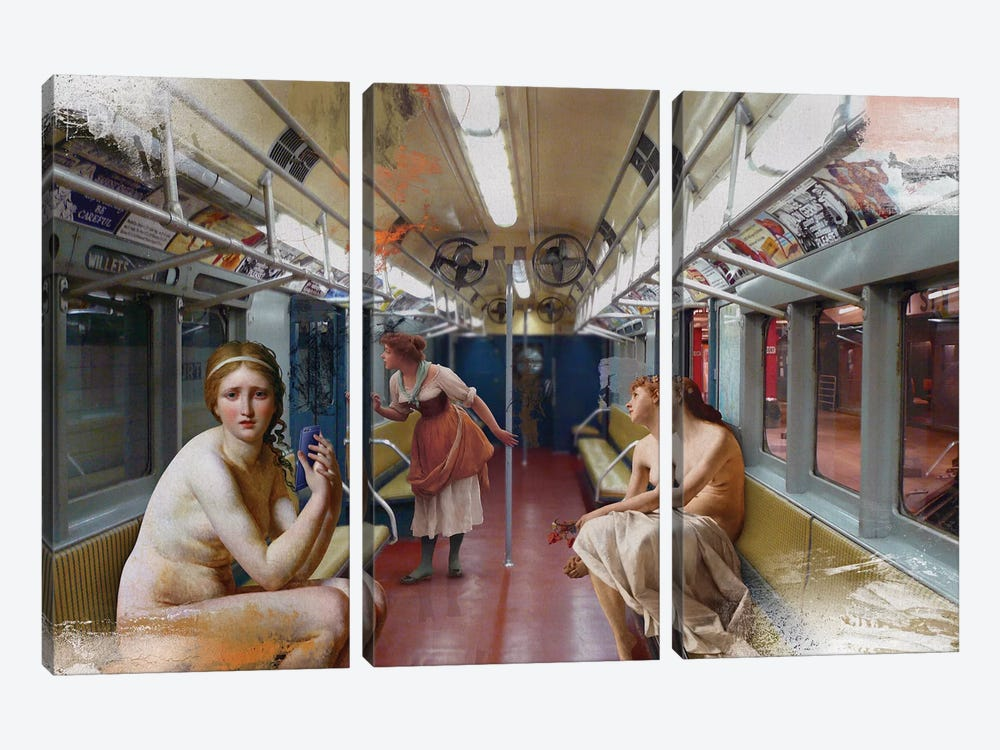 Subway by José Luis Guerrero 3-piece Art Print