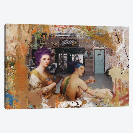 Tattoo 3-Piece Canvas #JLG61} by José Luis Guerrero Canvas Art Print