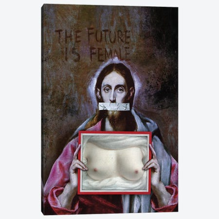 The Future Is Female Canvas Print #JLG65} by José Luis Guerrero Canvas Artwork