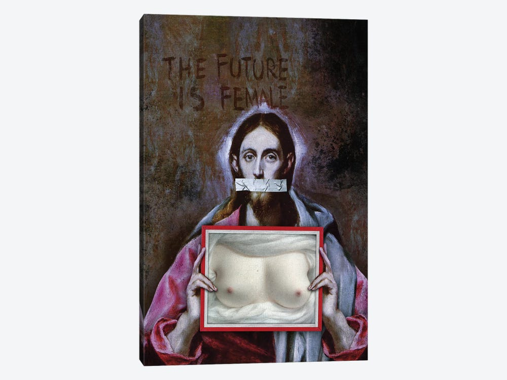The Future Is Female 1-piece Canvas Artwork