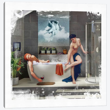 Bathtime  Canvas Print #JLG83} by José Luis Guerrero Art Print