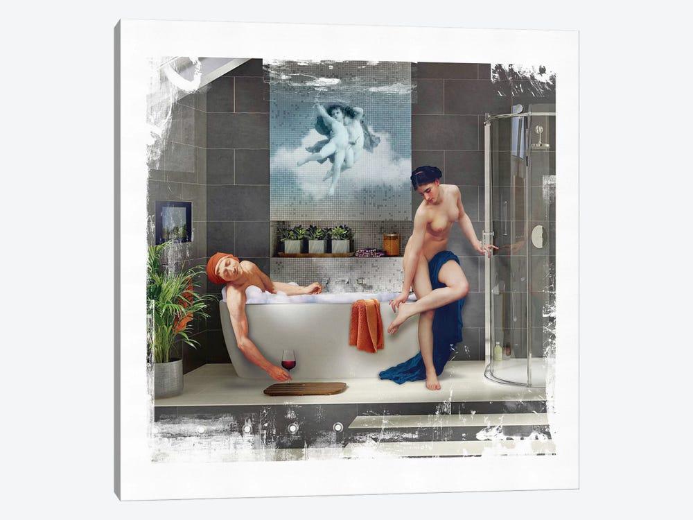 Bathtime  by José Luis Guerrero 1-piece Canvas Wall Art