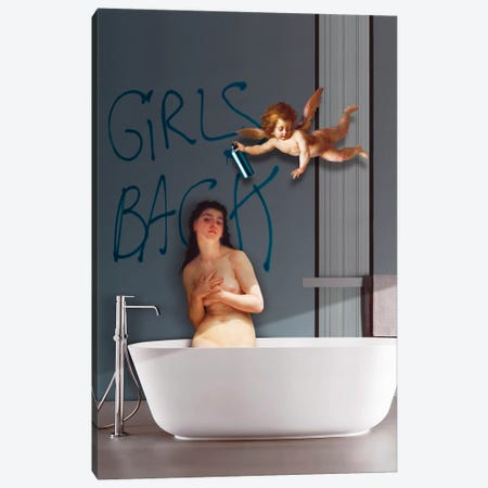 Girls Back Canvas Print #JLG97} by José Luis Guerrero Canvas Art Print
