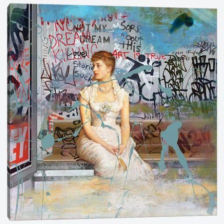 Bus Stop Canvas Print #JLG9} by José Luis Guerrero Canvas Artwork