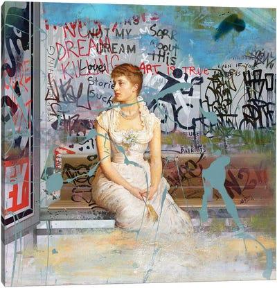 Bus Stop Canvas Art Print