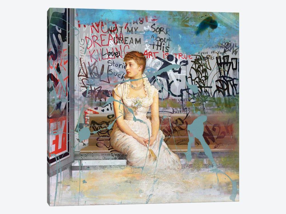 Bus Stop by José Luis Guerrero 1-piece Canvas Wall Art