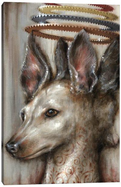 Double Dog Canvas Art Print