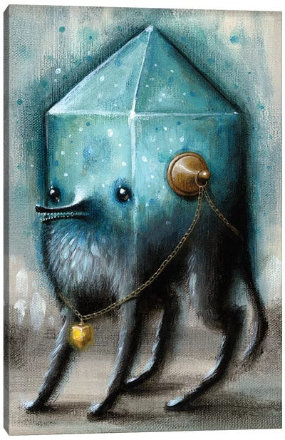 Jewel Hound Blue Canvas Art Print
