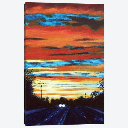Sunset Drive Canvas Print #JLK101} by Jerry Lee Kirk Canvas Artwork