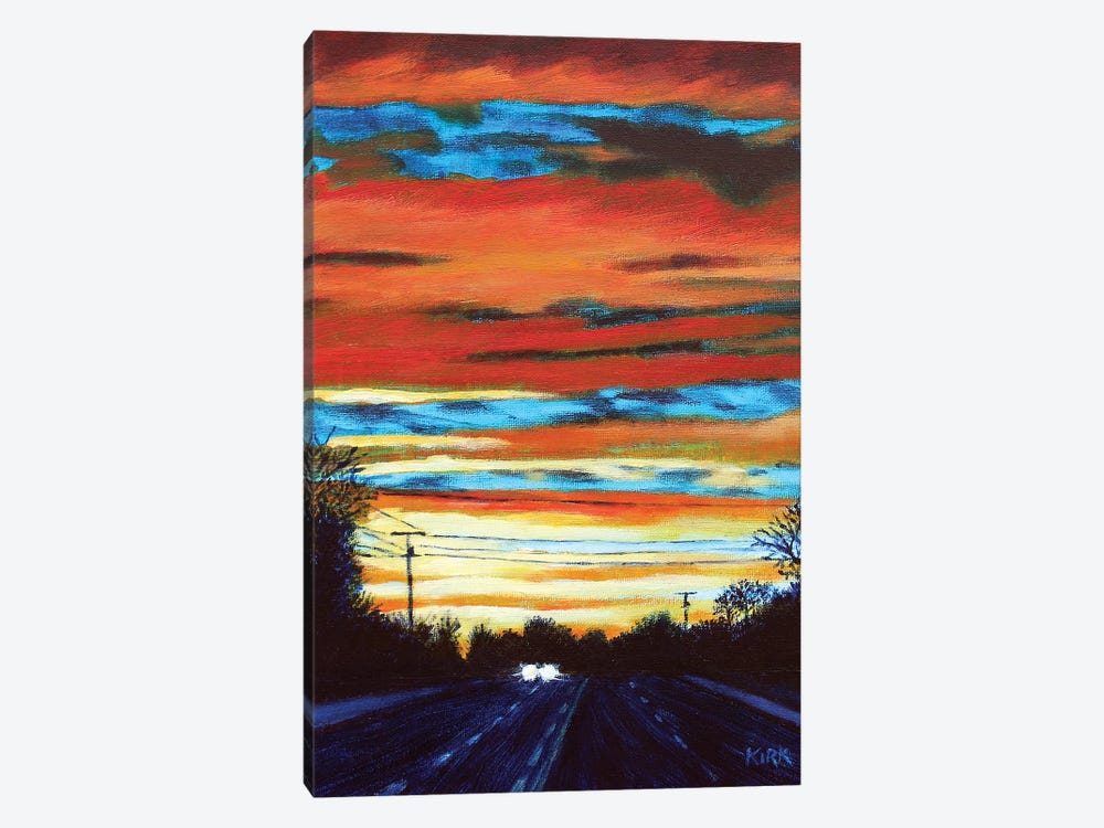 Sunset Drive by Jerry Lee Kirk 1-piece Art Print