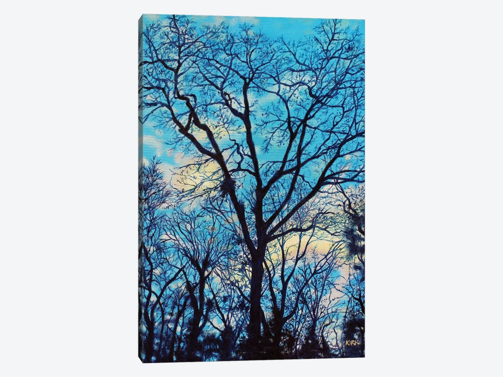 Twilight Trees by Jerry Lee Kirk 1-piece Canvas Print